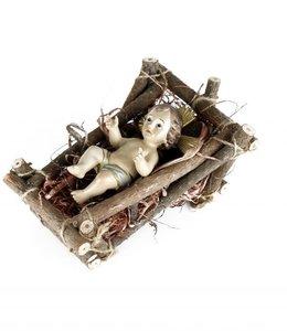 Christ Child with cradle - 12.5 cm