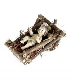 Christ Child with cradle - 12.5 cm