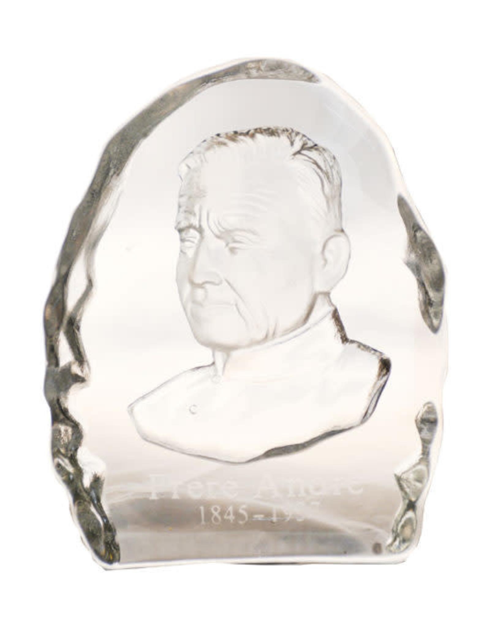 Bibelot en verre: saint frère André