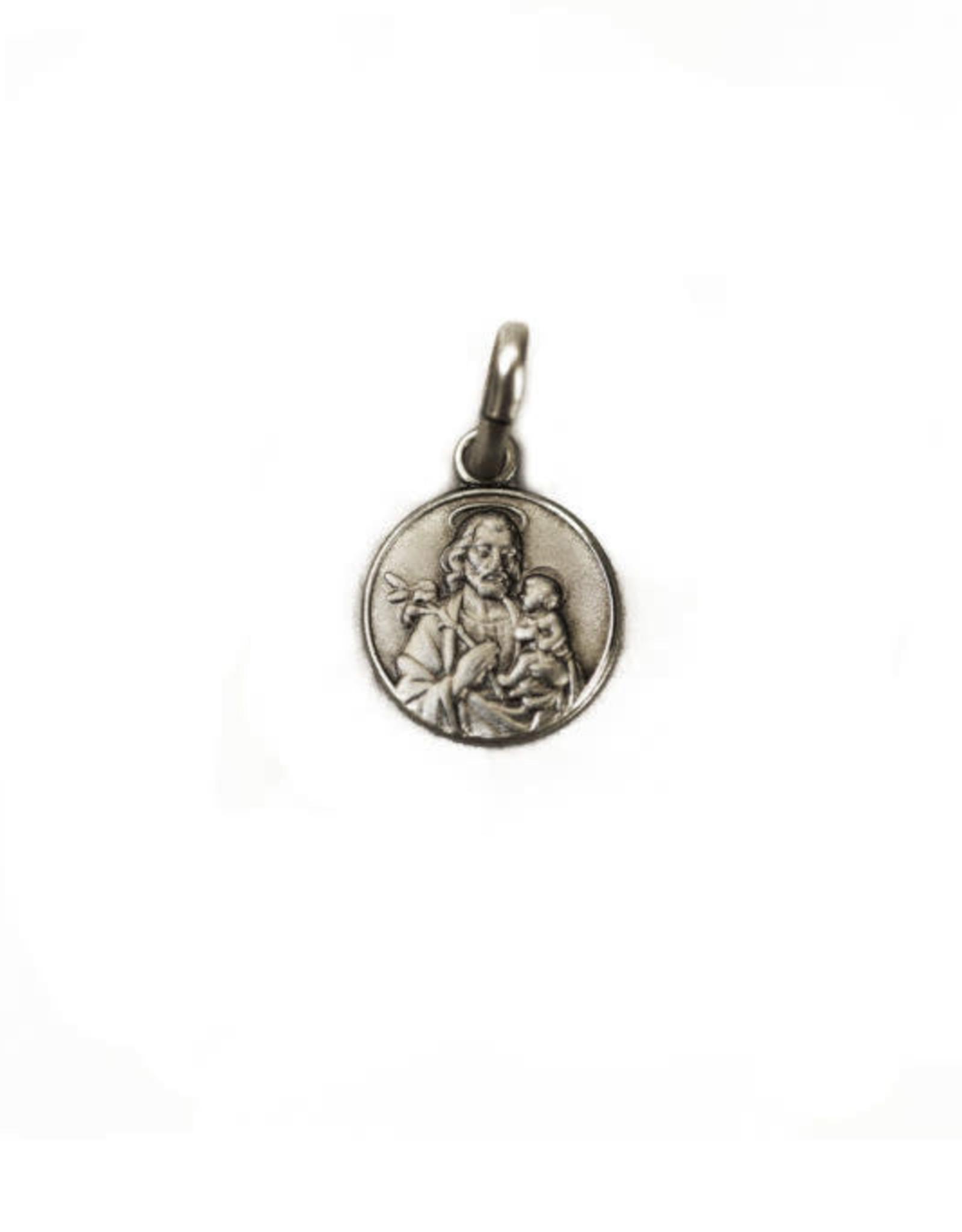 Médaille saint Joseph et Jésus, argent sterling 925