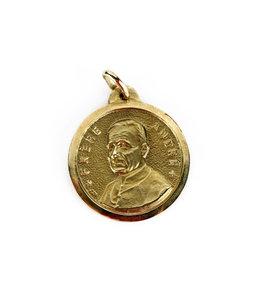 Médaille frère André / saint Joseph, or 10k