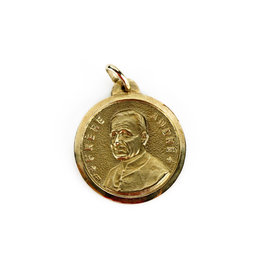 Saint Brother André / Saint Joseph Medal Gold 10k gold
