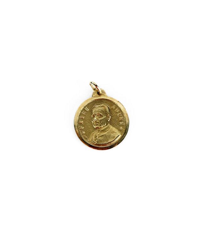Saint Brother André / Saint Joseph Medal Gold 10k gold