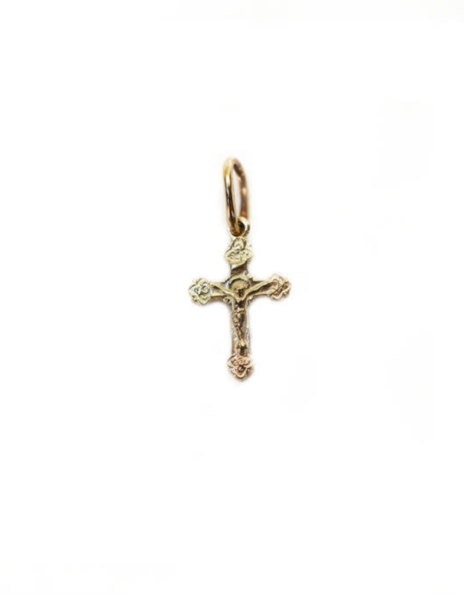 Small gold cross with corpus 10K