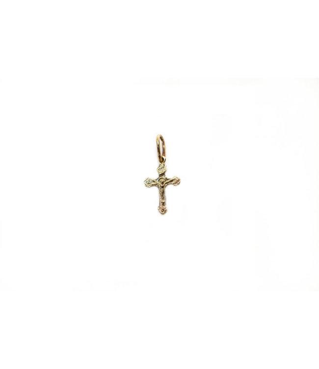 Mini-croix avec corpus, or 10k