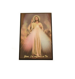 Plaque Divine Mercy (french)