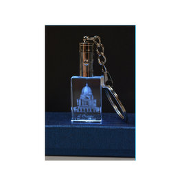 3D Engraved Crystal LED Keychain - Oratory