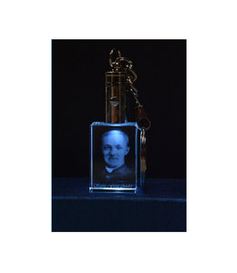 3D Engraved Crystal LED Keychain - Saint Brother André