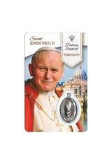 Carte médaille Saint Jean Paul II Saint Patron du Parkinson (français)