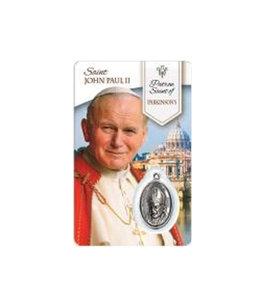 Carte médaille Saint Jean Paul II