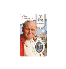 Medal card of Saint John Paul II (french)