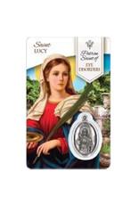 Carte médaille sainte Lucie sainte Patronne des Maladies Oculaires (français)