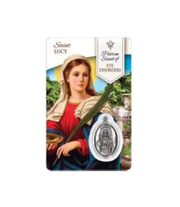 Medal card of Saint Lucy (french)