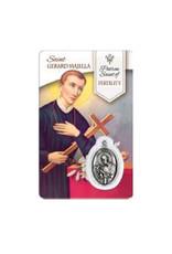 Carte médaille Saint Gérard Majella Saint Patron de la Maternité (français)