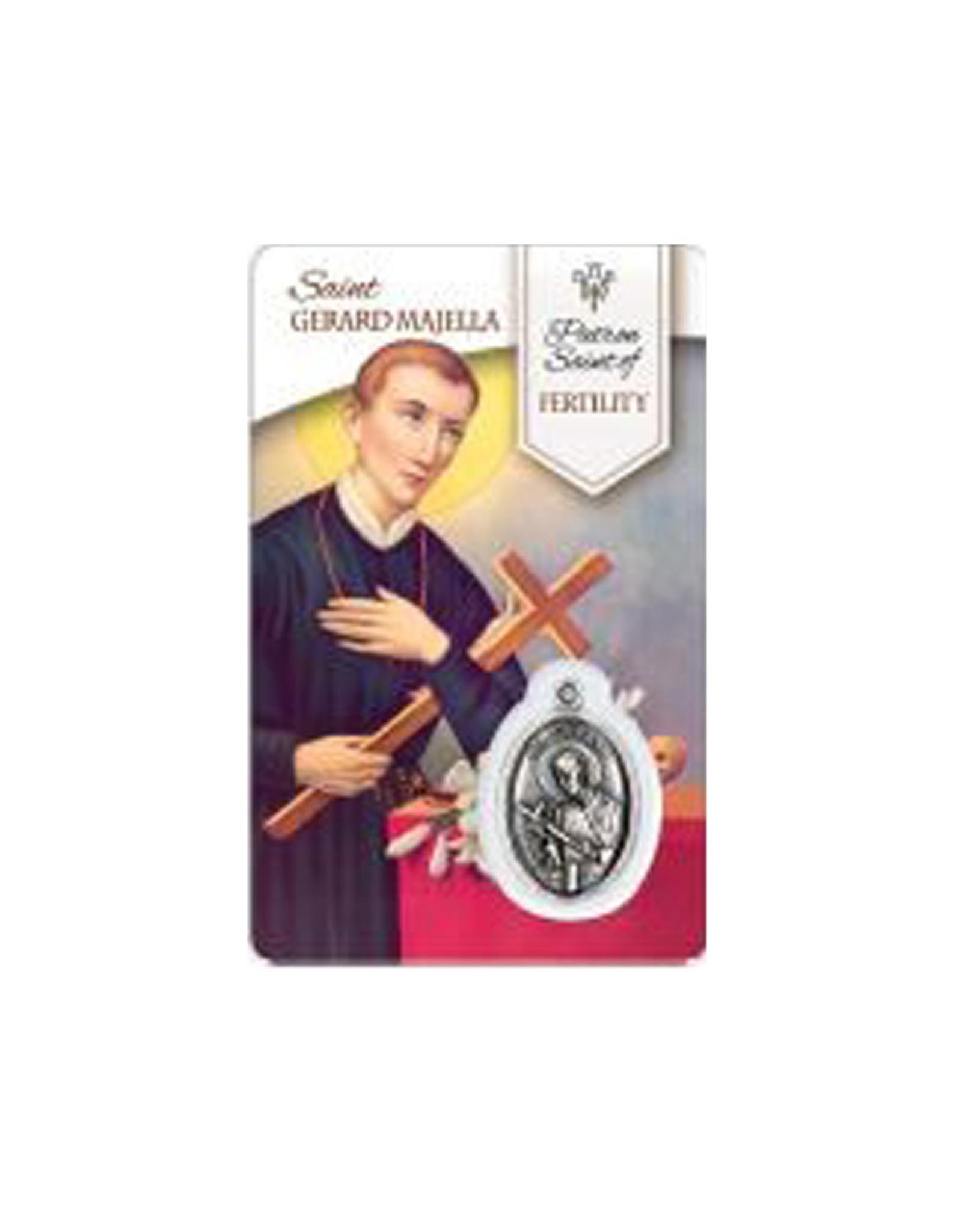 Medal card of Saint Gerard Majella (french)