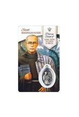 Medal card Saint Maximillian Kolbe (french)