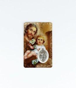 Carte médaille Saint Joseph (anglais)