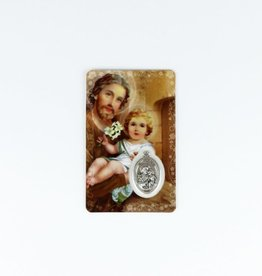 Saint Joseph medal and card