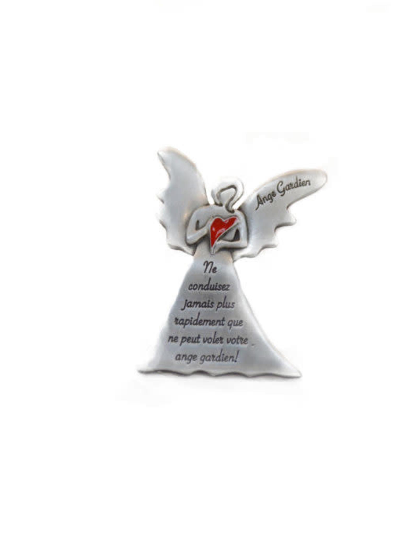 Red heart Guardian Angel Sun Visor (french)