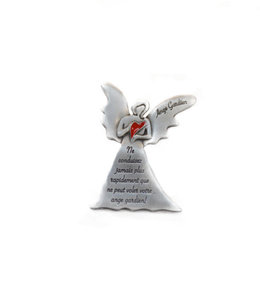 Red heart Guardian Angel Visor Clip (french)
