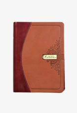 Société Biblique / Bible Society La Bible, couverture semi-rigide en cuir 2 tons de brun (french)