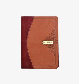 Société Biblique / Bible Society La Bible, couverture semi-rigide en cuir 2 tons de brun