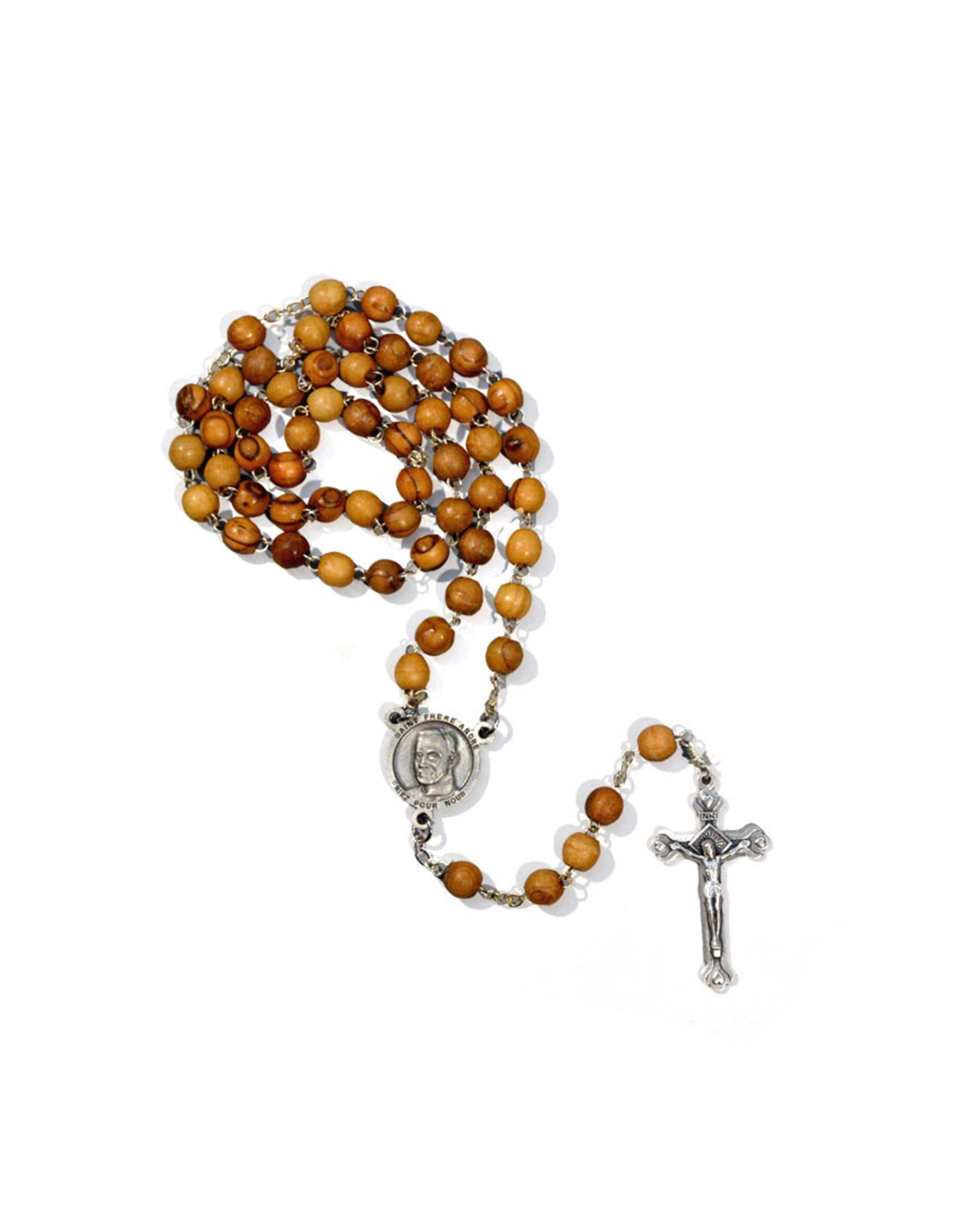 Chapelet saint frère André en bois d'olivier