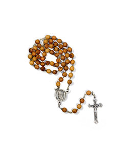 Olive wood Saint Brother André rosary