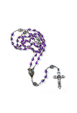 Miraculous medal rosary-fuchsia