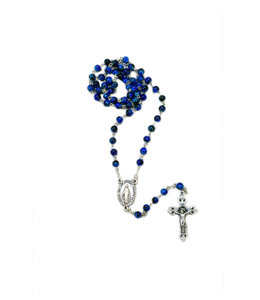 Blue ''lume'' rosary - Miraculous