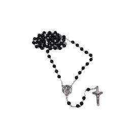 Chapelet saint frère André noir avec relique