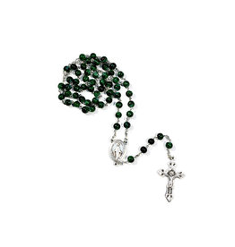 Green ''lume'' rosary - Miraculous