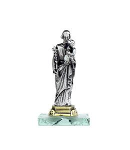 Statue of Saint Joseph on glass base