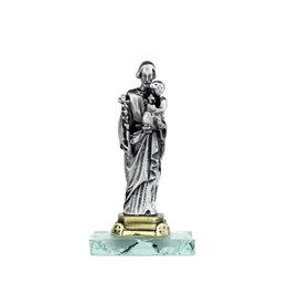 Statue Saint Joseph sur base en vitre