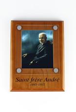 Saint Frère André Wooden Plaque
