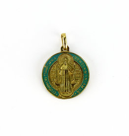Médaille dorée de saint Benoît