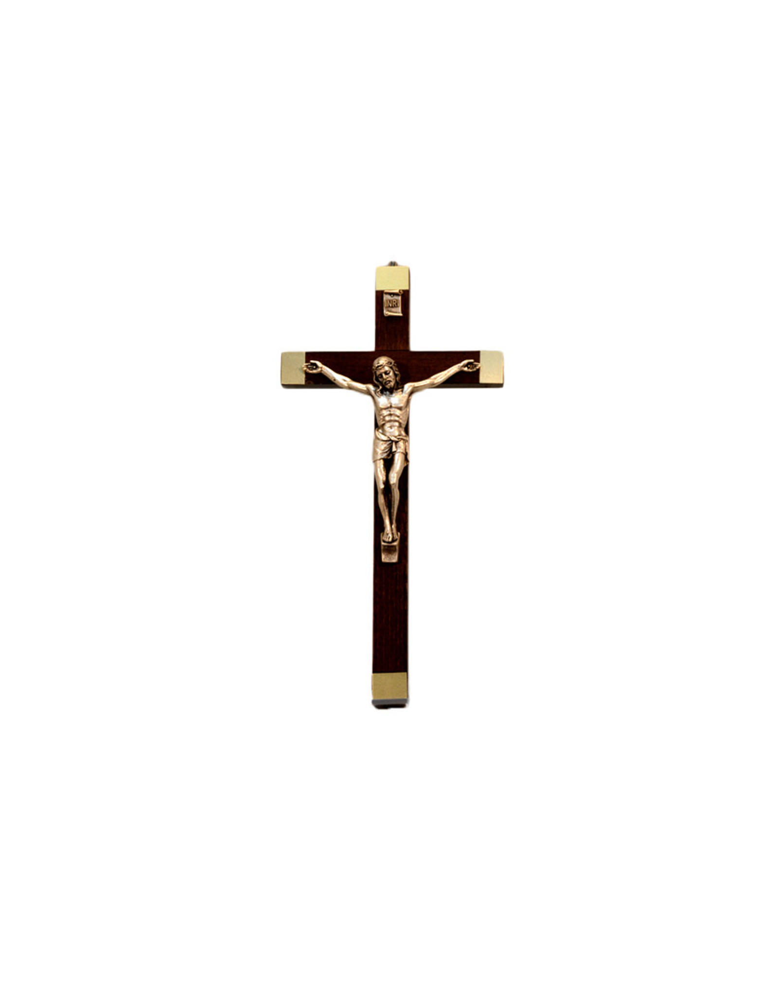 Wooden crucifix with silver corpus