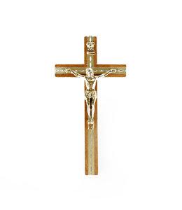Crucifix en bois corpus doré et insertion encavée