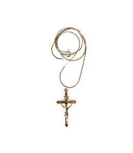 Chaîne plaqué or et crucifix