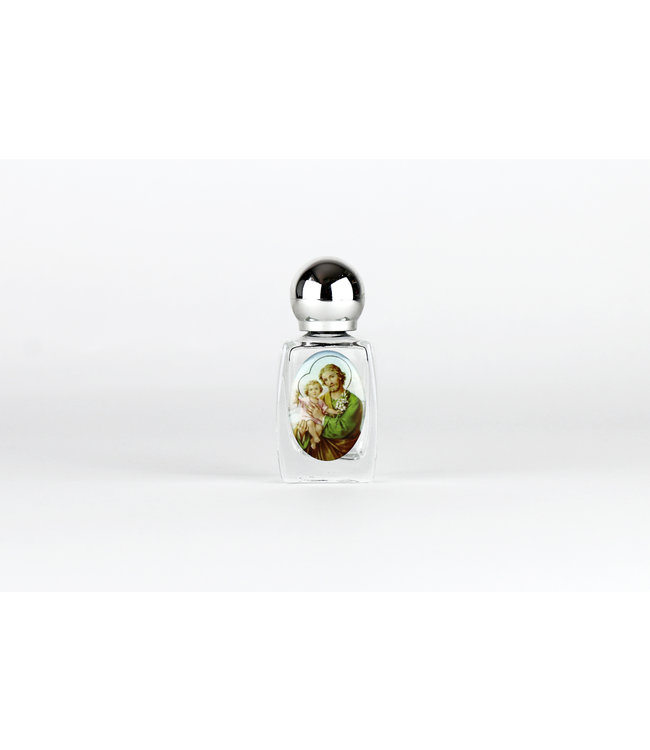 Glass bottle for Holy Water - Saint Joseph