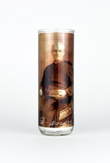 Chandelles Tradition / Tradition Candles Saint Brother André glass votive candle holder