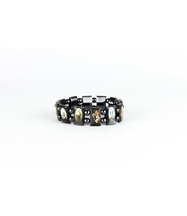 Bracelet of the saints in hematite