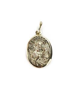 Médaille ovale Saint-Joseph - Or 10k