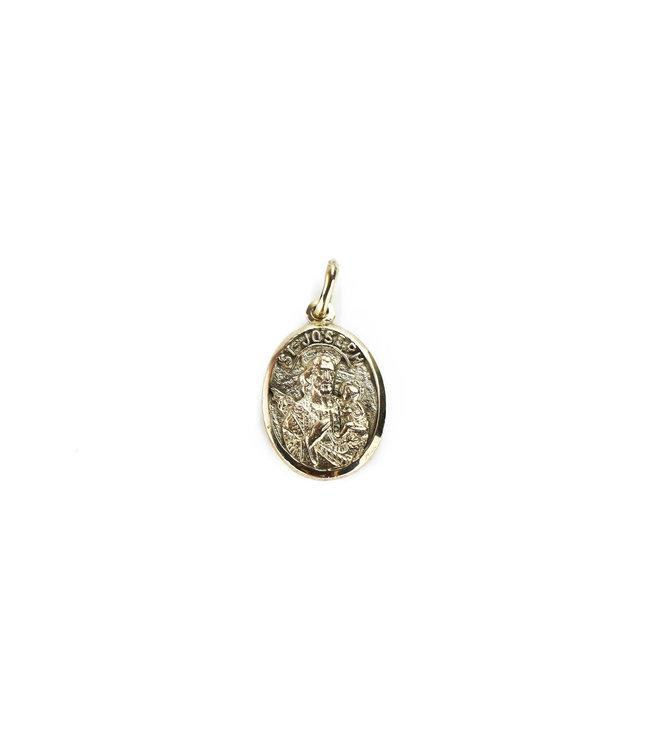 Oval Gold Medal of Saint Joseph. 10K gold
