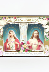 Plaque de bois ''God bless our home ''