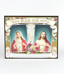 """Plaque """"God Bless our Home"""""""