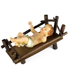 Child Jesus in his cradle - 24 cm