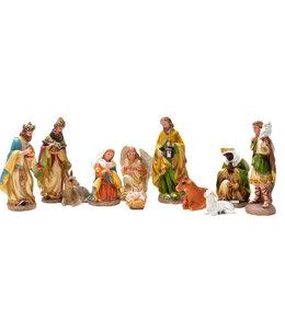 Crèche colorée, 11 personnages