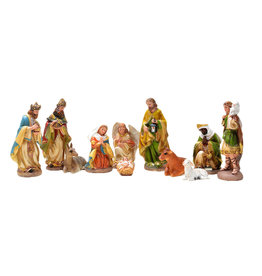 Colored  Nativity scene