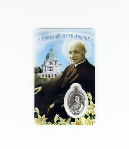 Card with medal of Saint Brother André